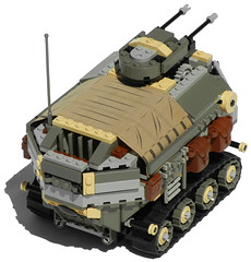 Rhino Heavy Diesel Personnel Carrier Mk. XXVIII (rear) (aillery) Tags: field hospital power control lego diesel military transport battery ground center medical workshop repair rhino vehicle remote motor functions apc rc armored command carrier motorized troop personnel tracked dieselpunk terradyne crayven