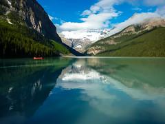 Banff National Park: Lake Louise in the sun (gabri_micha) Tags: canada banff lakelouise kanada banffnationalpark
