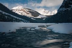 Water Flow (johnfuj) Tags: ca canada alberta northamerica northsaskatchewanriver banffnationalpark westerncanada prairieprovinces canadianprairies theweepingwall nikond300s improvementdistrictno9