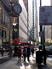Magic Hour (rwchicago) Tags: city urban chicago streets downtown intersection rushhour lightandshadow magichour