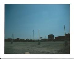 (iralh) Tags: urban film analog landscape polaroid photography angle parking wide silk lot instant landcamera fp100c fujiflm