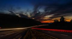 Night Road After (Kostya Kartavenka) Tags: road light sky car night photoshop lights long exposure photoshoped carlights
