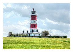 178/366: Happisburgh lighthouse (judi may) Tags: red sky lighthouse white building green grass architecture clouds norfolk cloudysky happisburgh happisburghlighthouse canon7d day178366 366the2016edition 3662016 26jun16