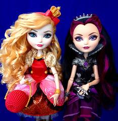 Apple & Raven (honeysuckle jasmine) Tags: white snow apple high dolls princess daughter evil queen after raven ever mattel