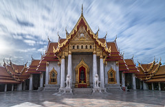 Marble Temple - Bangkok (Jerry Fryer) Tags: longexposure clouds thailand temple cityscape bangkok buddha marble wat goldenhour 6d longshadows benchamabopit leefilters xpro3 bigstopper littlestopper ef1635mmf4l