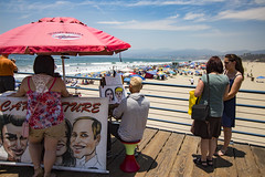 Cartooning (etzel42) Tags: ocean california santa ca pier santamonica socal monica boardwalk westcoast