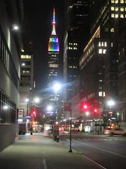 The Empire State Building lit up in LGBT pride flag rainbow colors in honor of Heritage of Pride and New York City Pride Week (RYANISLAND) Tags: nyc newyorkcity gay summer usa ny newyork love america lesbian unitedstates manhattan unitedstatesofamerica glbt pride parade american prideparade lgbt stonewall newyorkstate bisexual nyny hop gaypride trans lesbians transexual bi newyorknewyork nys equality trangender gays iloveny glbtq ilovenewyork nationalhistoriclandmark heritageofpride nycpride pridemarch newyorkcitypride manhattanny manhattannyc lgbtq stonewallinn thestonewallinn stonewallnationalhistoriclandmark stonewalllandmark stonewallmonument stonewallnationalmonument
