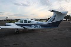 G-OPAT (IndiaEcho) Tags: gopat beech 76 duchess egtf fairoaks airport airfield chobham surrey england light ceneral civil aircraft aeroplane aviation canon eos 1000d