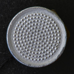 Symmetry (sumnix) Tags: macro button philopod aliminum symmetry