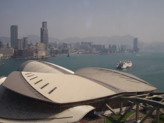 Another morning view of Tsim Sha Tsui and Victoria Harbour from Grand Hyatt Hong Kong (procrast8) Tags: hong kong china masterpiece k11 victoria harbour dockside ihg intercontinental