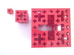 LEGO Menger Crosses (top) (marathontomay) Tags: lego fractal mengercross jerusalemcube math selfsimilar iteration