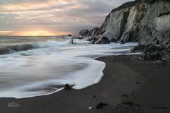 Tidal Approach (http://www.richardfoxphotography.com) Tags: ayrmer cove south west coast path coastal tidal sunset hams devon sky outdoors long exposure