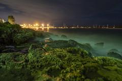 The green fog - Porto cesareo beach (Manuel Gennerich) Tags: landschaft landscape night nacht strand meer beach ocean greenfog grübernebel longtimeexposure langzeitbelichtung sonya6500 sigma16mmf14 portocesareo italien italy