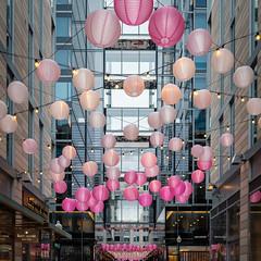 City Center - 3/9/19 (ep_jhu) Tags: lights x100f washington cherryblossom pink balls fuji buildiings lamps dc fujifilm citycenter