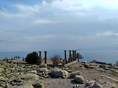 Assos Athena Temple nears to heaven where believed to gods live. (ancient pix) Tags: ancient history ancienthistory photo photography culture art arts archaeology archeology