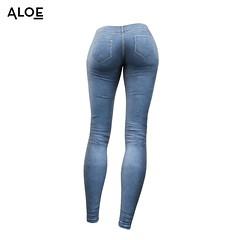 Dark Denim Jeans - Back [Sansar] (Aloe [Alli Keys]) Tags: dark denim jeans womens clothing aloe 3d modeling second life sansar virtual gaming models workflow substance painter zbrush sculpt photoshop render base color blue washed texturing