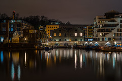 Harbour lights..... (Dafydd Penguin) Tags: harbour lights after dark night hawks shots shadow reflections stars tripod long exposure slow shutter speed buildings city urban bristol uk water sea harbor port dock leica m10 summicron 50mm f2