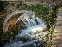 Ivy on Bridge (fentonphotography) Tags: greece ivy bridge herkynariver water waterfall arch longexposurephotography livadia