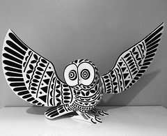 """Owl Full Size (j.towbin ©) Tags: allrightsreserved© owl wood sculpture decorative pattern handmade craft carving """"oaxacanwoodcarving""""""""lpablo"""""""