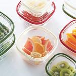 耐熱ガラス製保存容器の写真