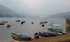 nepal 2013 (gerben more) Tags: pokhara nepal lake boats water