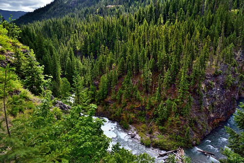 An Overlook to Agnes Creek and the Mountainside of Heather Ridge (North Cascades National Park)
