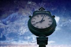 Telling time....HSS!!! (Joe Hengel) Tags: tellingtime akronpa pennsylvania pa lancastercounty akron clock texture sky clouds cloudsbluesky hss happyslidersunday slidersunday sunday