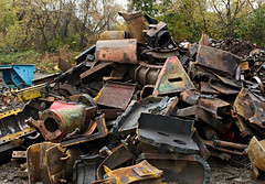 The First Cut is the Deepest (Doris Burfind) Tags: portdover shipyard rust metal decay engines progress destruction