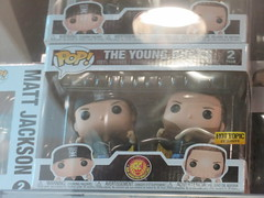 Pop! for the Young Bucks (earthdog) Tags: 2019 canon powershot sx730hs canonpowershotsx730hs mall shopping wrestling prowrestling njpw newjapan newjapanprowrestling funko funkopop toy actionfigure hottopic word text youngbucks mattjackson nickjackson logo
