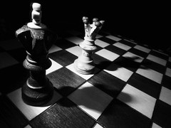 ChessContrast (ebriseno14) Tags: chess blackandwhite board contrast king queen