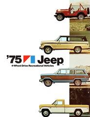 1975 Jeep 4-Wheel Drive Vehicles (aldenjewell) Tags: 1975 jeep 4wheel drive recreational vehicles brochure cj5 renegade cherokee wagoneer pickup