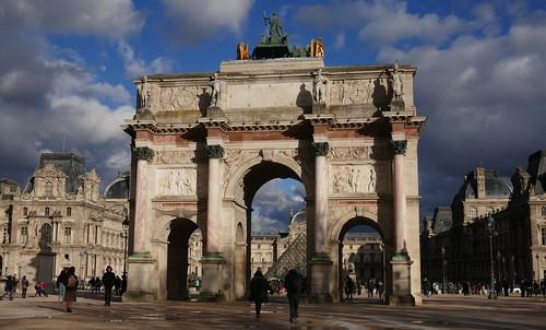 Arc de triomphe du Carrousel, 1809,  jardin des Tuileries, Paris Ier, Île-de-France, France.