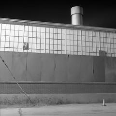 Geometric (ADMurr) Tags: la eastside industrial night windows cylinder cone hasselblad 50mm kodak 400 dad1202 swc 38mm zeiss
