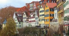 Kaufmannshäuser bilden die Neckarfront Tübingen (eagle1effi) Tags: panorama mit 80 mm zoom architecture architektur canonpowershotsx70hs canon powershot sx70hs eagle1effi