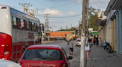 It was Zafra season in Cuba (Sugar cane harvesting) and tandem trucks - or very large trains - were passing through town on their way to the sugar mill. (lezumbalaberenjena) Tags: camajuani camajuaní villas villa clara 2019 lezumbalaberenjena sugar azucar zafra harvest