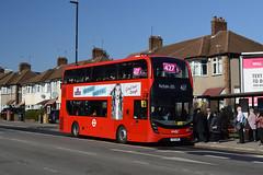Abellio London 2557 (YX17NVD) on Route 427 (hassaanhc) Tags: abellio abelliolondon abelliogroup alexander dennis adl enviro enviro400 e400 e400mmc enviro400mmc e400hybrid enviro400hybrid e400h