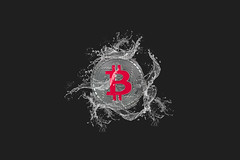 Silver Bitcoin and water splash on dark background (wuestenigel) Tags: market water splash background bitcoin finance coin bear money mining digital bussiness broken bullmarket crash cryptocurrency btc illustration symbol design shape gestalten desktop noperson keineperson abstract abstrakt creativity kreativität text alphabet dark dunkel nature natur image bild drop fallen celebration feier vector vektor christmas weihnachten sign zeichen danger achtung love liebe
