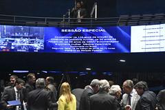 Plenário do Senado (Senado Federal) Tags: plenário sessãoespecial 110anosdecriação diretoriadeindústriaanimal 36anos abramvet 99anos sbmv médicaveterinária paineleletrônico brasília df brasil bra