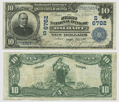 United States $10.00 (ten dollars) national currency (SMU Libraries Digital Collections) Tags: texas money national us united states currency paper banks notes note banknote banknotes chartered bank banking dallamcounty dallam dalhart