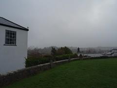 Misty, moisty morning (Phil Gayton) Tags: grass wall mural headstone cloud mist sky stmarys churchyard totnes devon uk