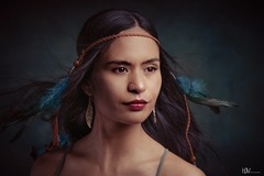 Wind (Hajeve Pictures) Tags: wind indian feathers fineart woman womanportrait