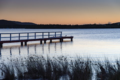 Clear Skies Sunrise over the Bay and Wharf (Merrillie) Tags: daybreak woywoy landscape nature australia foreshore newsouthwales wharf earlymorning nsw brisbanewater waterscape waterfront water sunrise sky coastal morning outdoors channel jetty centralcoast dawn bay