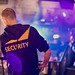 Casually dressed security personnel at an event
