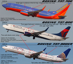 Boeing 737 Versions Comparison (Flightline Aviation Media) Tags: boeing airplane aircraft jet airliner plane american southwest delta united airlines 737 737700 737800 737900