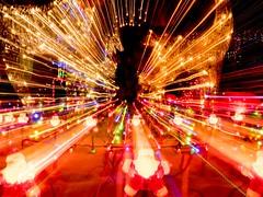 PC204167 (Copy) (pandjt) Tags: orléans ottawa ontario nightphotography winterphotography ledlights christmaslights taffylane icm intentionalcameramovement abstract