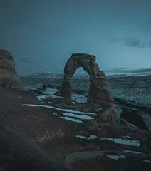 Blue hour at Arches National Park (loewx017) Tags: nationalpark arches utah nature flickr flick picture dawn dusk moody mood bluehour blue sky