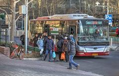 Bus Stop in Peking (AdjaFong) Tags: china bus strase street 24