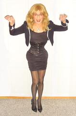 conduttorina / conductress / cobradora (Katvarina) Tags: corset corsetry heels kat laced tightlaced crossdress crossdresser crossdressing transgender transgirl tgirl metrosexuality genderfluid