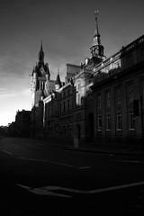 Light & Shadow (PeskyMesky) Tags: aberdeen townhouse scotland city street monochrome blackandwhite sunrise sunset canon canon5d eos