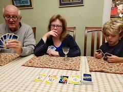Playing Dos (Joe Shlabotnik) Tags: home everett sue dad cameraphone december2018 galaxys9 2018